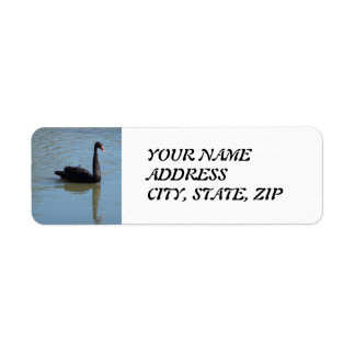 Black Swan Address Label