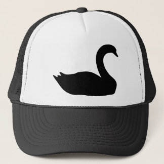 black swan icon trucker hat