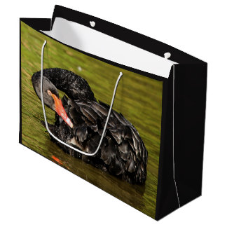 Black Swan in the Pond Large Gift Bag