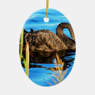 Black Swan O'brein's Bridge, Ireland Christmas Ornament