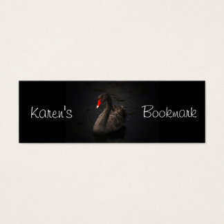 Black Swan Personalized Bookmark Mini Business Card