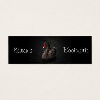 Black Swan Personalized Bookmark Mini Business Card
