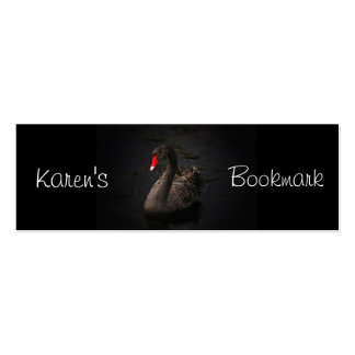 Black Swan Personalized Bookmark Pack Of Skinny Business Cards