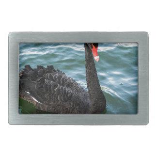 Black Swan Rectangular Belt Buckle
