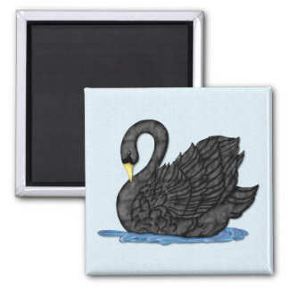 Black Swan Square Magnet