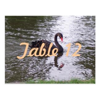 Black Swan Table Number Postcard