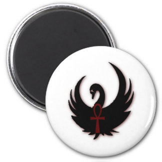 Black Swan with Ankh Fridge Magnet