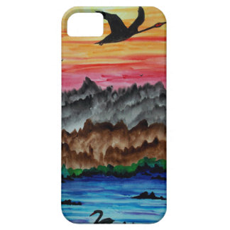 Black swans at sunset barely there iPhone 5 case