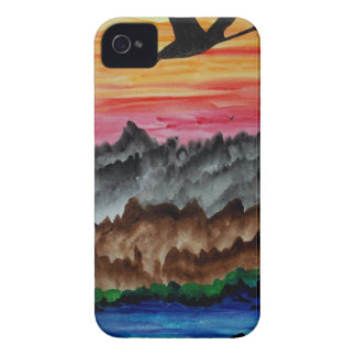 Black swans at sunset iPhone 4 Case-Mate case