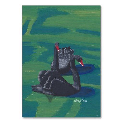 Black Swans Custom Flashcards Table Card