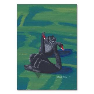 Black Swans Custom Flashcards Table Cards