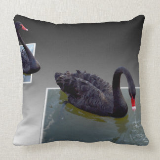 Black Swans Swimming In Dimensional Ponds, Cushion
