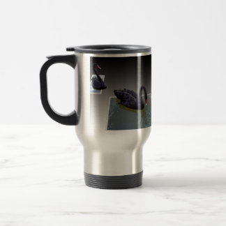 Black Swans Swimming In Ponds, Commuter Mug