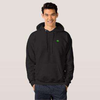 Black sweatshirt hoodie, Tasmanian wolf