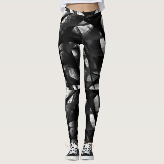 Black swirl leggings