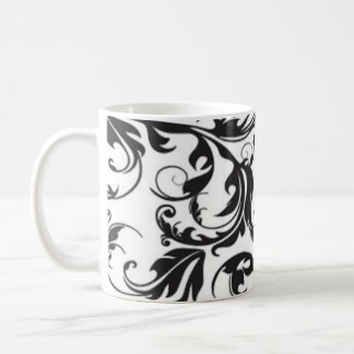 Black Swirl Basic White Mug