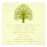 Black Swirl Tree 100% Recycled Paper Invitation