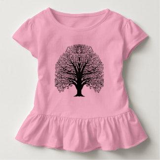 Black Swirl Tree T Shirts