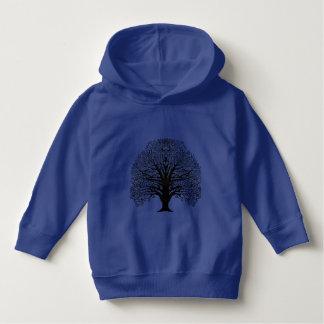 Black Swirl Tree Toddler Hoodie
