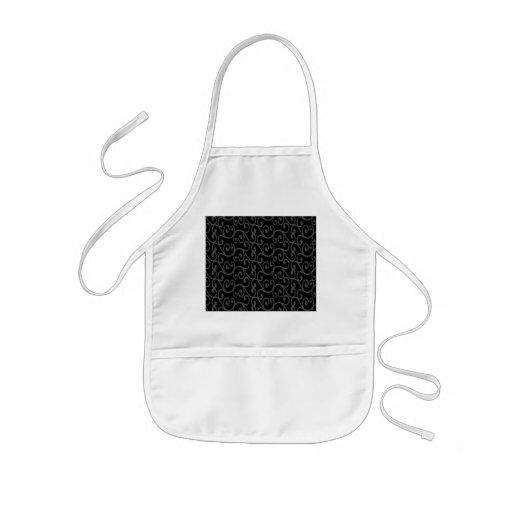 Black swirls apron