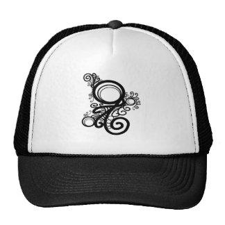 Black Swirls Art Nouveau Cap