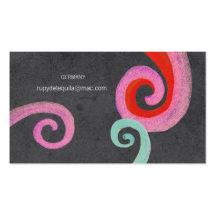 Black Swirls Business Card