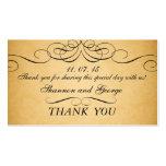 Black Swirls Damask Vintage Wedding Favour Tag Business Card Templates