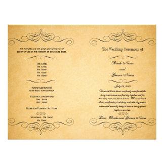 Black Swirls Vintage Wedding Program 21.5 Cm X 28 Cm Flyer