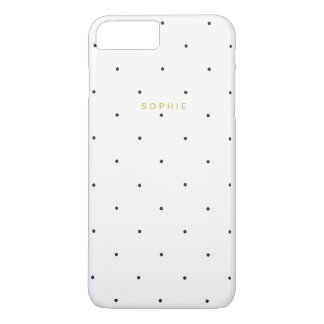 Black Swiss Polka Dot iPhone 7 Plus Case