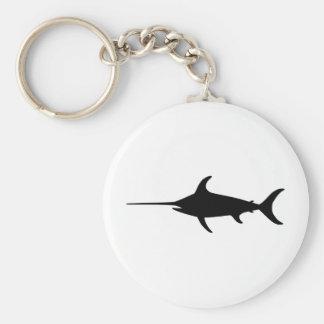 Black Swordfish Key Ring