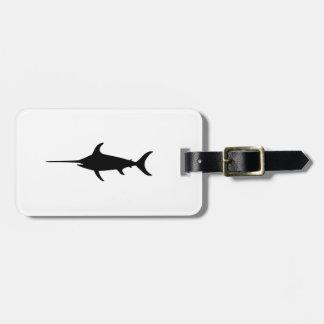 Black Swordfish Luggage Tag