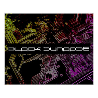 Black Synapse Circuitry Poster