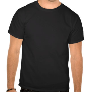 Black t-shirt asserting intelligence - or patience