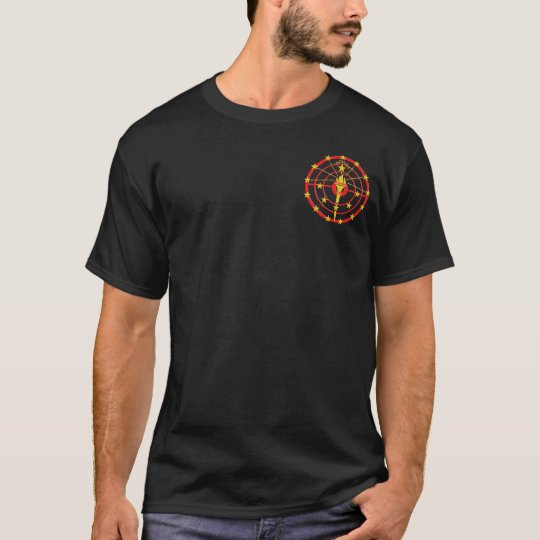 Black T-Shirt w/ Red and Yellow Logo