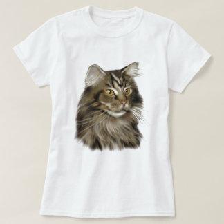 Black Tabby Maine Coon Cat T-Shirt