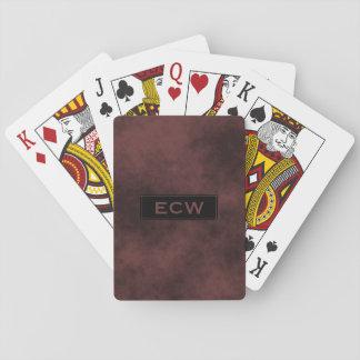 * Black Tag Monogram on Smokey Light Brown Sharp Poker Deck