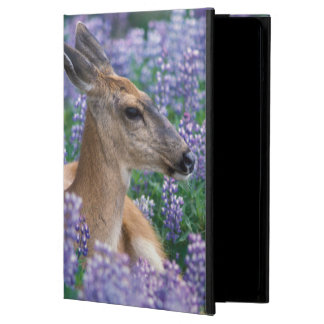 Black-tailed deer, doe resting in siky lupine, iPad air covers