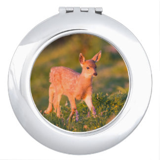 Black-tailed Deer fawn Travel Mirrors