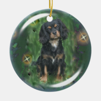 Black & Tan Cavalier King Charles Spaniel Ornament