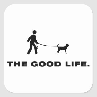 Black & Tan Coonhound Square Sticker