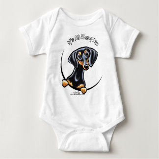 Black Tan Dachshund Its All About Me Baby Bodysuit