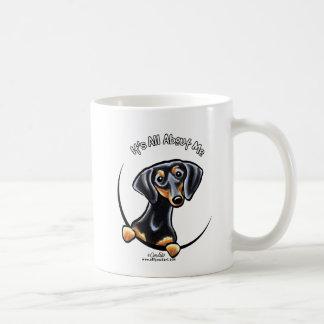 Black Tan Dachshund Its All About Me Coffee Mug