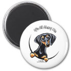 Black Tan Dachshund Its All About Me Magnet