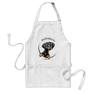 Black Tan Dachshund Its All About Me Standard Apron