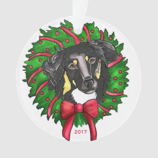 Black & Tan English Shepherd ornament