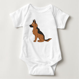 Black & Tan German Shepherd Baby Bodysuit