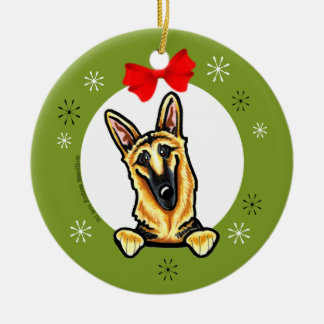 Black Tan German Shepherd Christmas Classic Christmas Ornament