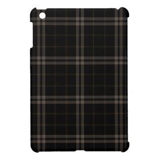 Black Tan Squares Tartan Plaid iPad Mini Case