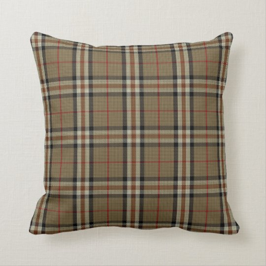 Black/Tan Tartan Pillow