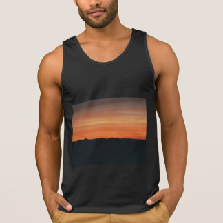 Black Tank Top with Sunset Scene